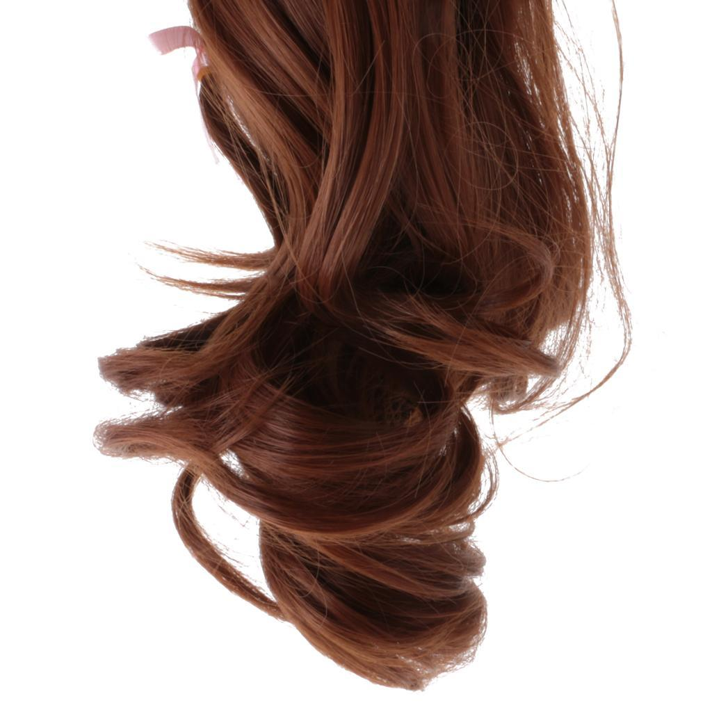 Straight-Gradient-Curly-Hair-Wig-for-18-039-039-Doll-Dress-up-Accessory thumbnail 45