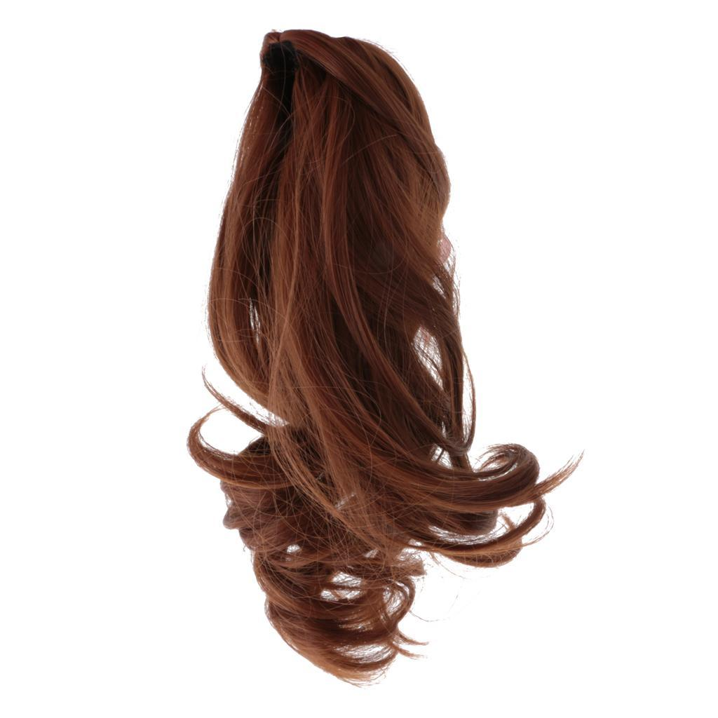 Straight-Gradient-Curly-Hair-Wig-for-18-039-039-Doll-Dress-up-Accessory thumbnail 46