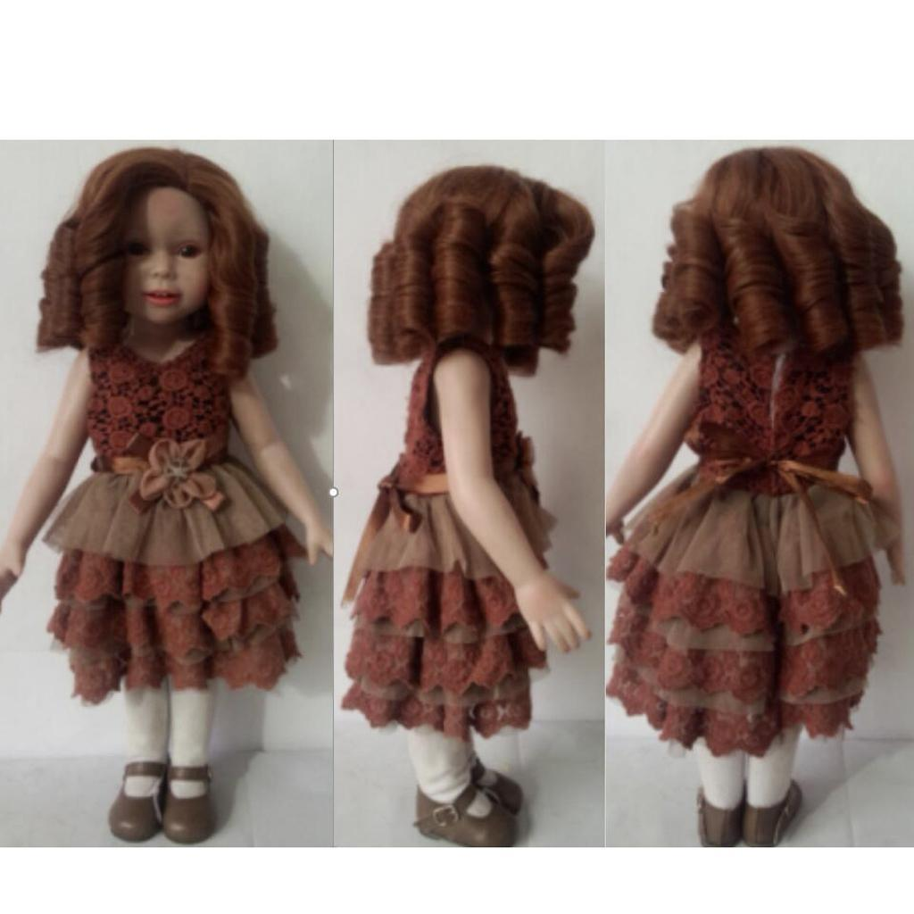 Straight-Gradient-Curly-Hair-Wig-for-18-039-039-Doll-Dress-up-Accessory thumbnail 69