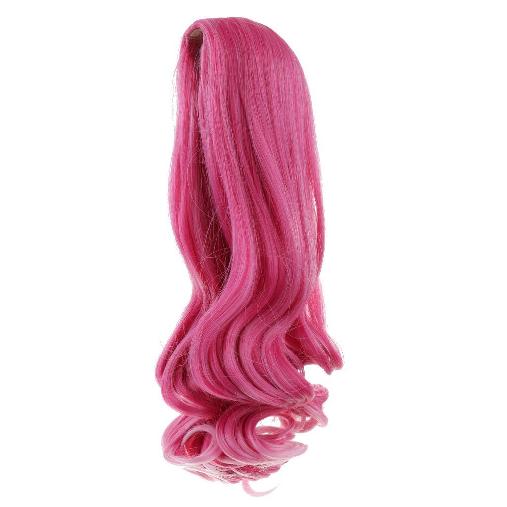 Straight-Wavy-Curly-Hair-Wig-for-18-039-039-Dolls-Clothes-Accessories thumbnail 88
