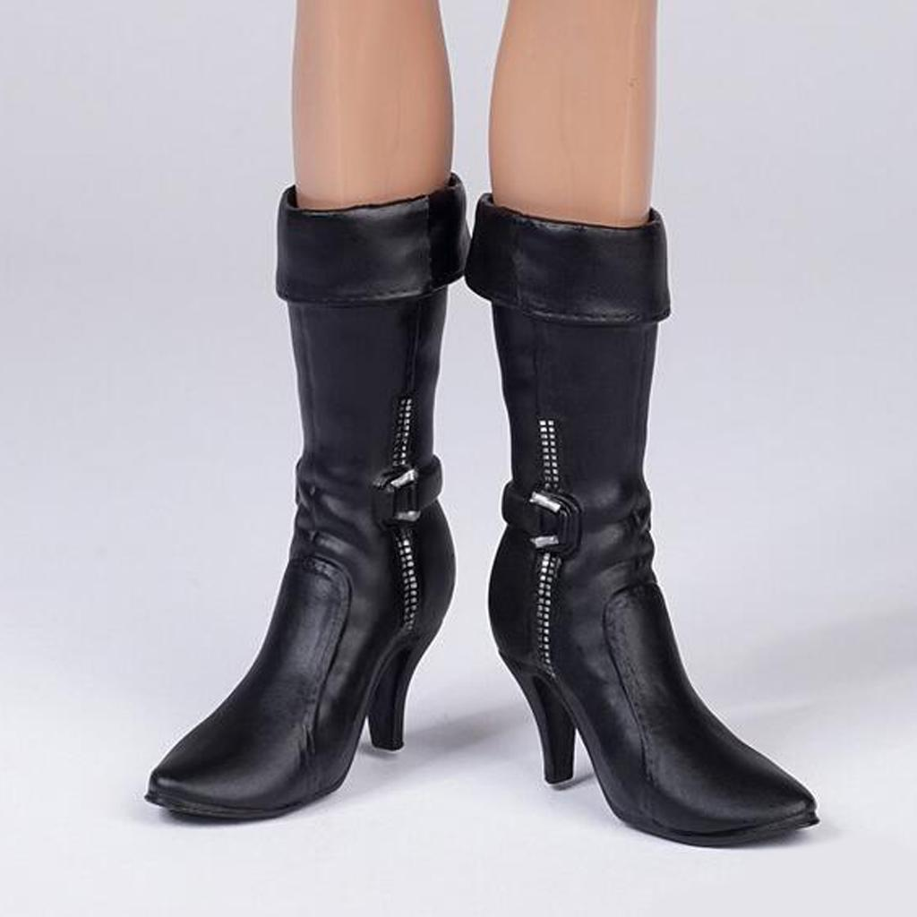 3 Pairs 1//6 Scale Female Boots High Heel Shoes for Kumik Toys 12in Action