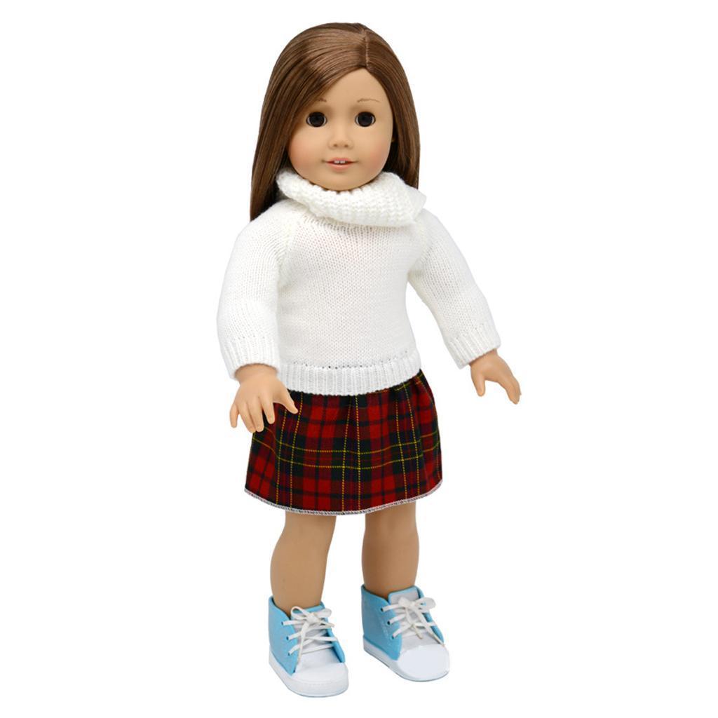 For-18-039-American-Doll-Doll-Generation-Doll-Clothes-Pajamas-Swimwear-Bikini-Shirt miniature 24