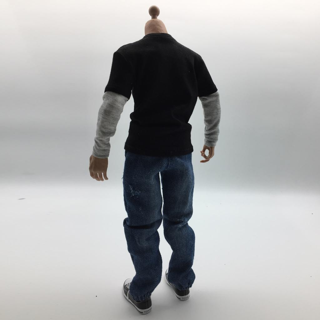 1:6 Man/'s Casual Jeans and R-neck T-shirt for PH JO 12inch Action Figure