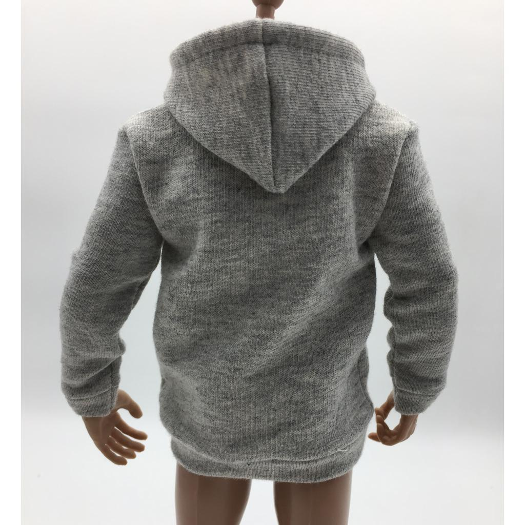 1-6-Scale-Mens-Long-Hoodie-Hooded-Sweatshirt-for-12inch-Action-Figure-Hot-Toys miniature 5