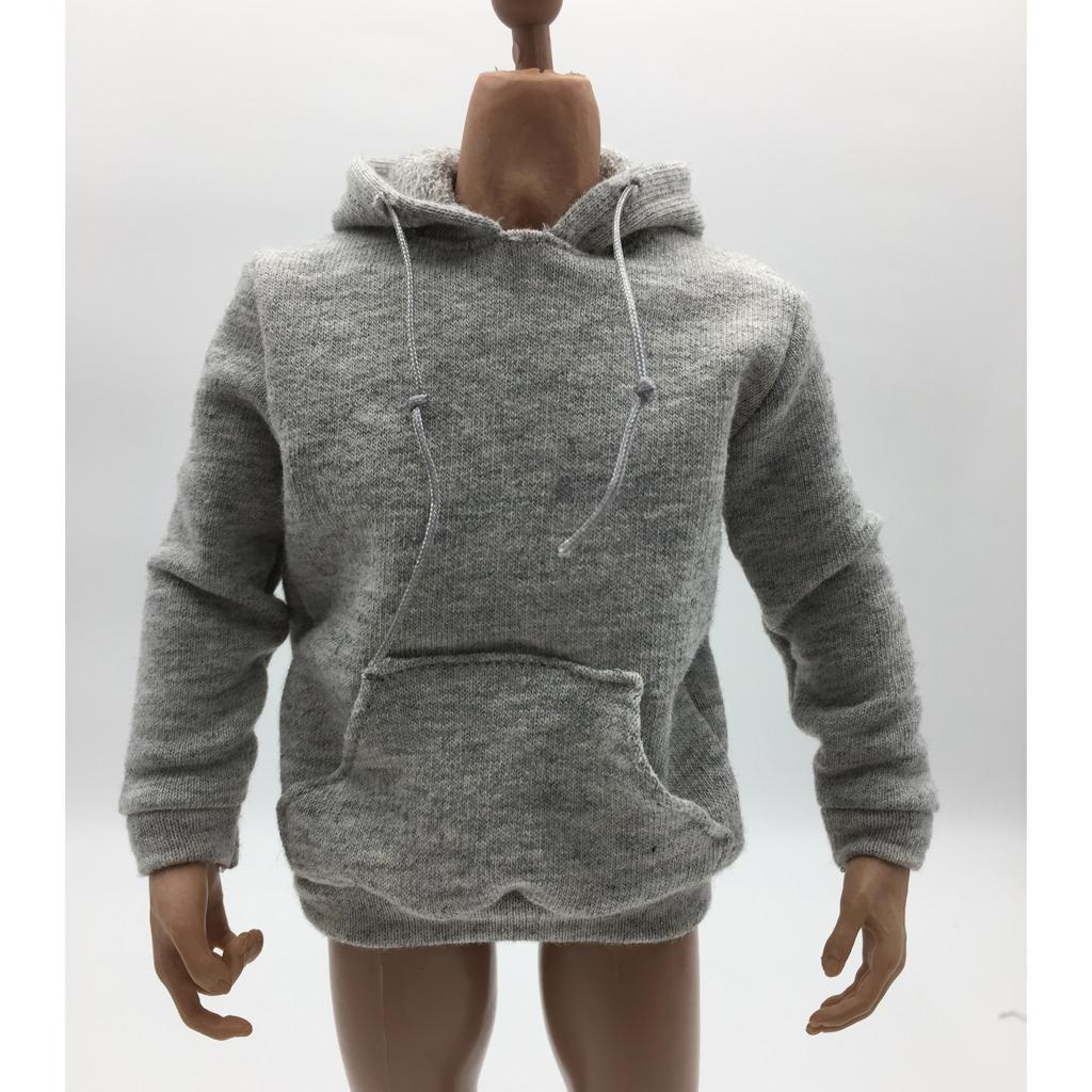 1-6-Scale-Mens-Long-Hoodie-Hooded-Sweatshirt-for-12inch-Action-Figure-Hot-Toys miniature 4