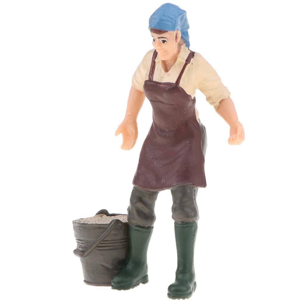 Plastic-Colorful-People-Model-Figure-Ranch-Worker-Figurines-Kid-Gift-Decor thumbnail 6