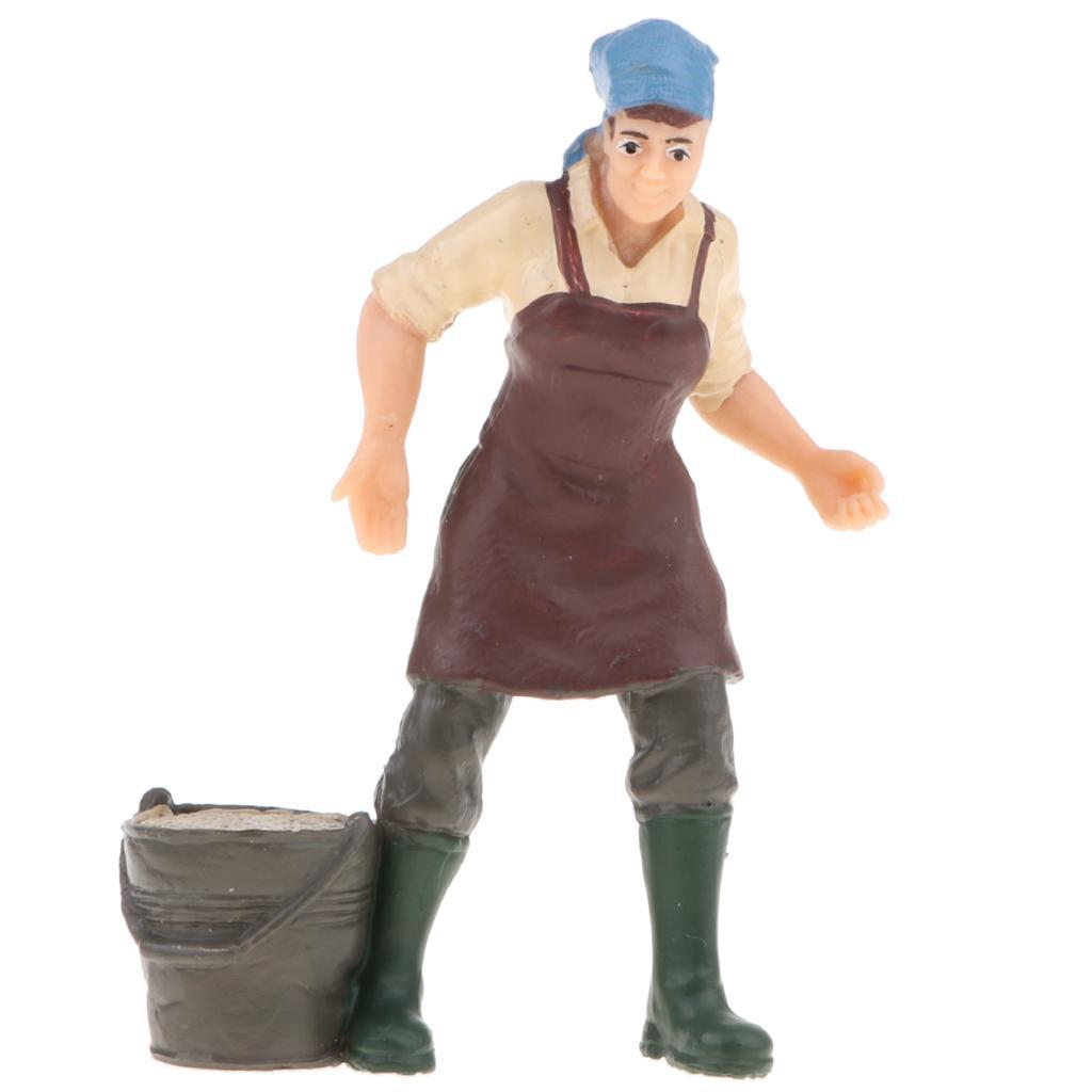Plastic-Colorful-People-Model-Figure-Ranch-Worker-Figurines-Kid-Gift-Decor thumbnail 7