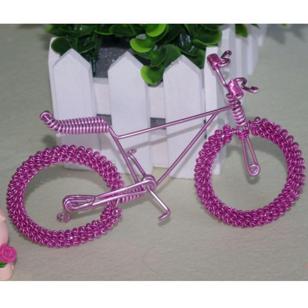 Giocattolo-Annata-Diecast-Bicicletta-Ornamento-Scrivania-Decorazione-Casa miniatura 20