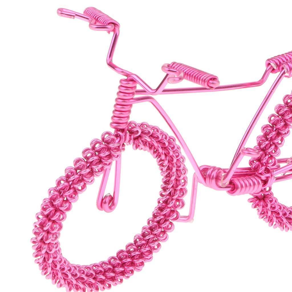 Giocattolo-Annata-Diecast-Bicicletta-Ornamento-Scrivania-Decorazione-Casa miniatura 21
