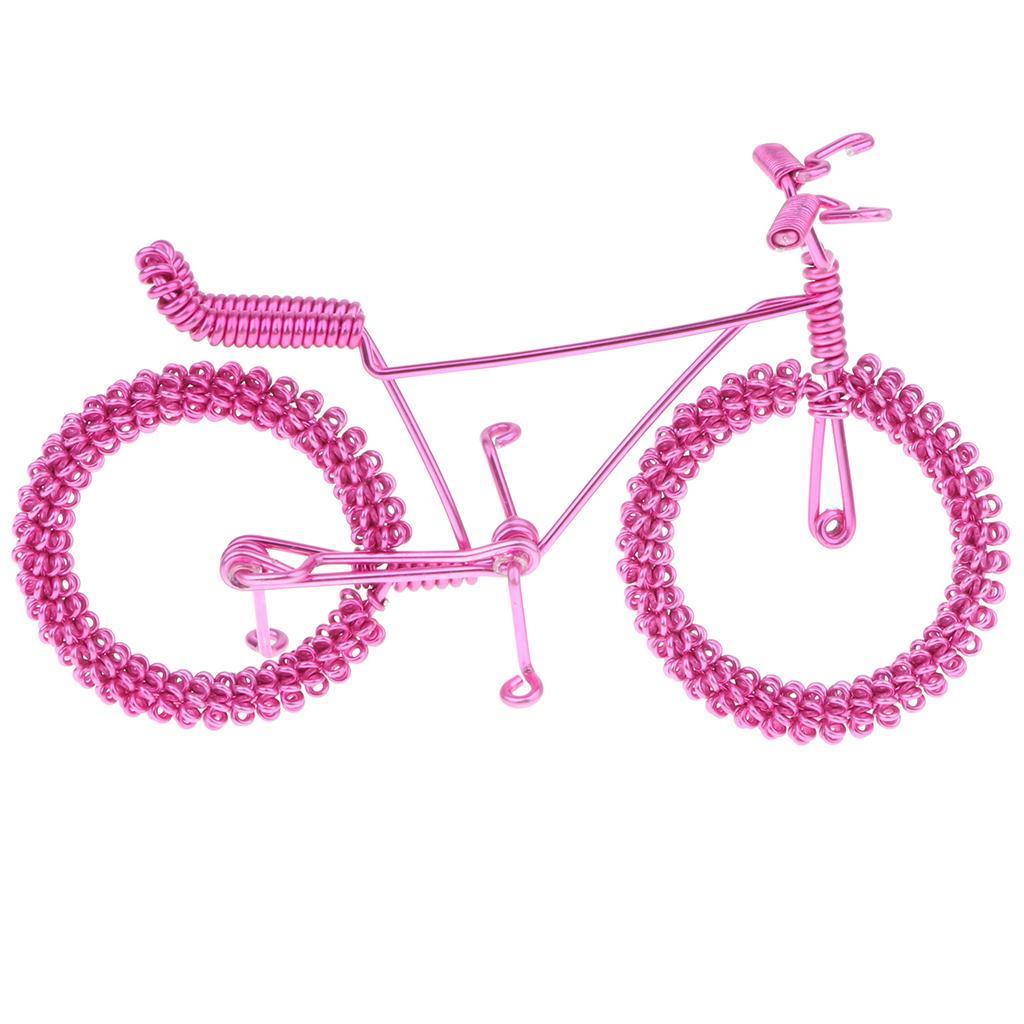 Giocattolo-Annata-Diecast-Bicicletta-Ornamento-Scrivania-Decorazione-Casa miniatura 22