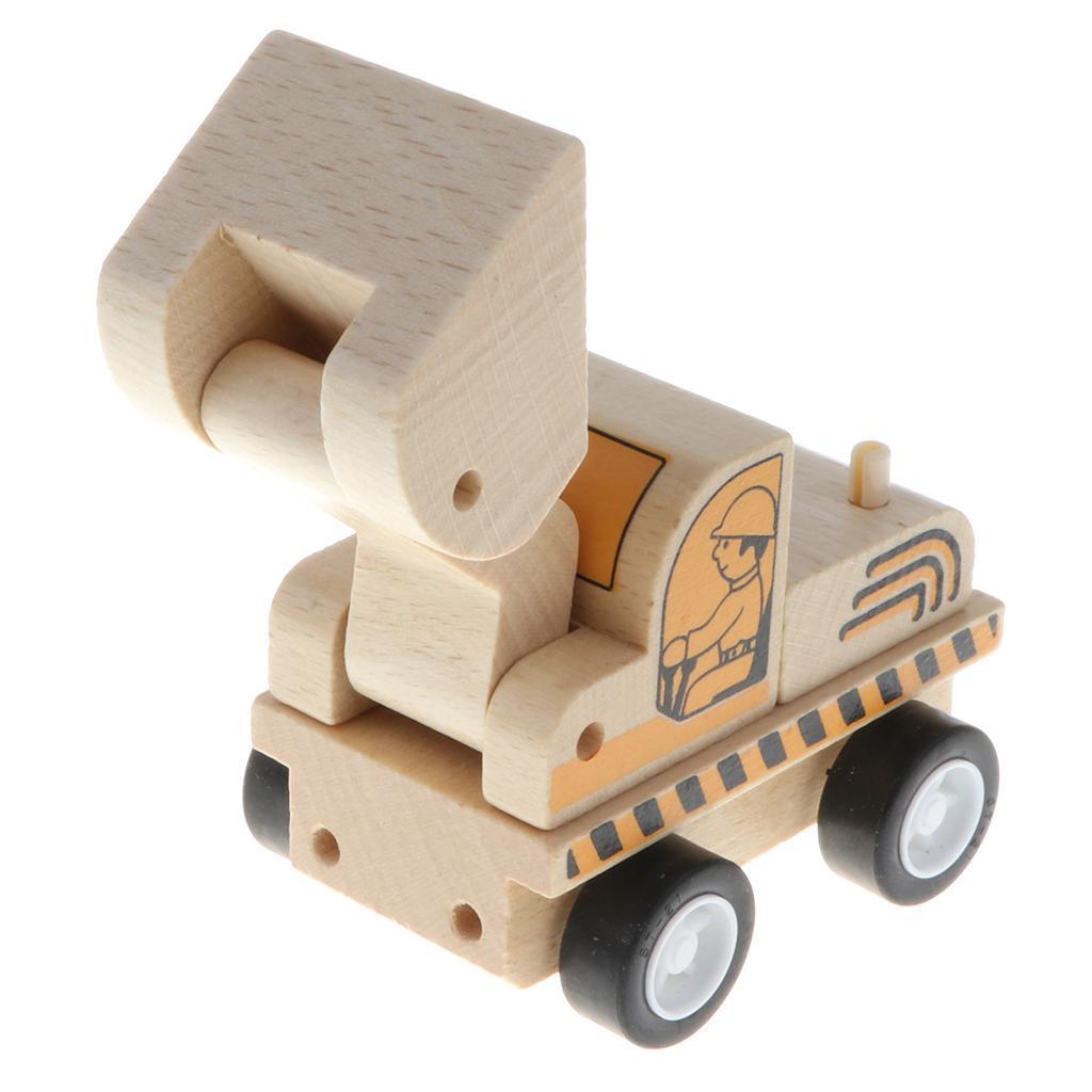 miniature 11 - Puzzle 3D Camion de Génie Jouet Montage en Bois Vehicule Simulation