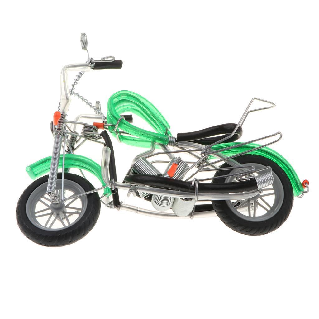 Mini-modello-di-moto-in-metallo-modello-di-moto-artigianato-perfetto-da miniatura 15