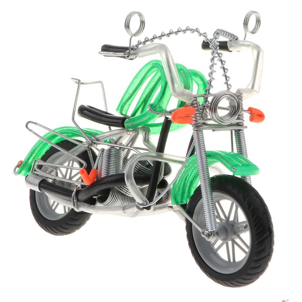 Mini-modello-di-moto-in-metallo-modello-di-moto-artigianato-perfetto-da miniatura 13