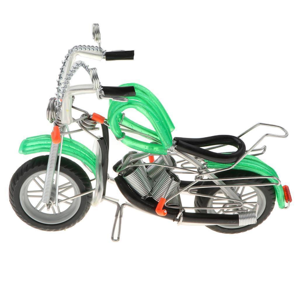 Modello-Di-Motocicletta-In-Metallo-Realistico-In-Ufficio-Vintage-Home-Decor miniatura 13