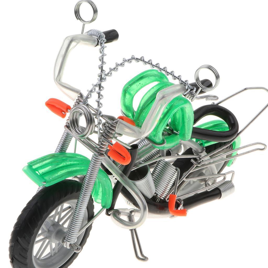 Modello-Di-Motocicletta-In-Metallo-Realistico-In-Ufficio-Vintage-Home-Decor miniatura 14