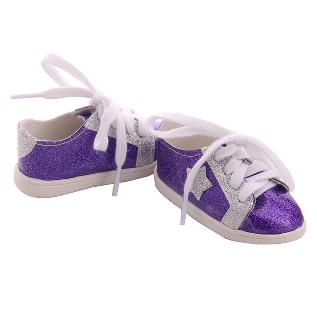 18inch-Girl-Doll-Fairy-Leisure-Shoes-for-American-Doll-Xmas-Gift-Accessories miniature 3