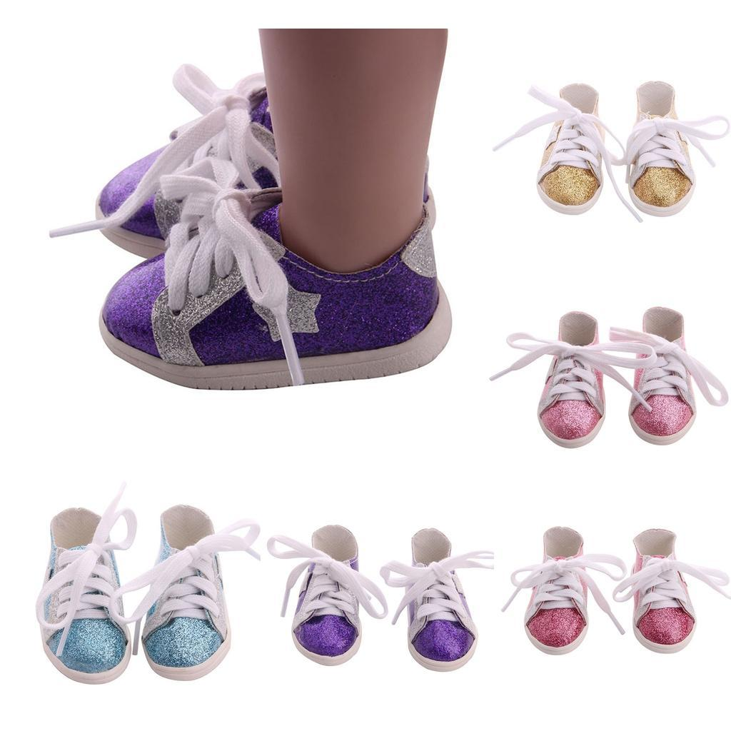18inch-Girl-Doll-Fairy-Leisure-Shoes-for-American-Doll-Xmas-Gift-Accessories miniature 4