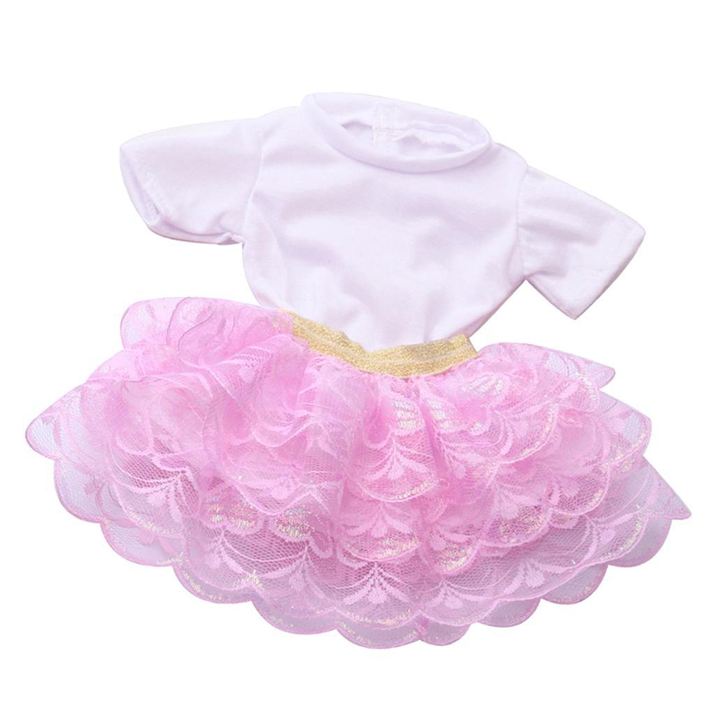 18inch-Girl-Doll-Princess-Skirt-for-American-Doll-Clothing-Accs-Kids-Gifts miniature 10