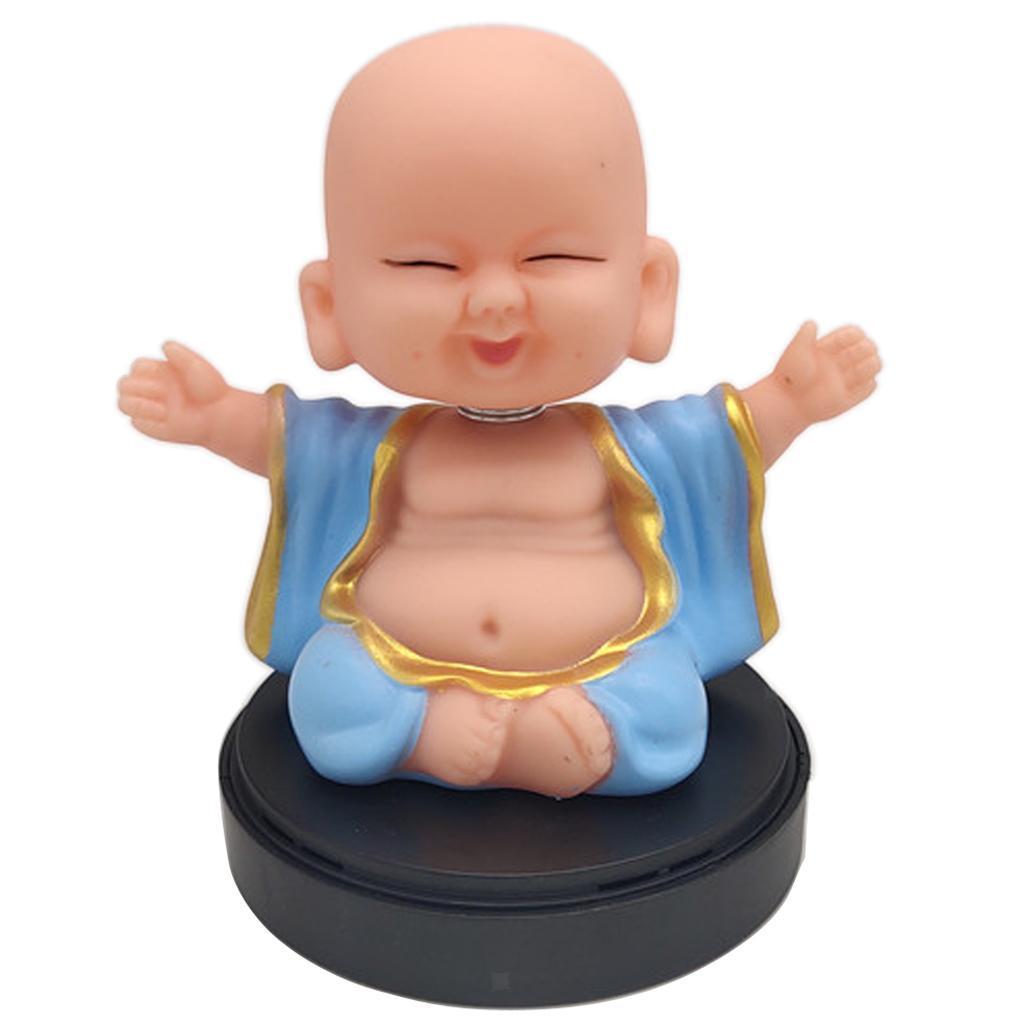 Solar-Powered-Swinging-Buddhist-Monk-Bobble-Toy-Home-Decor thumbnail 9