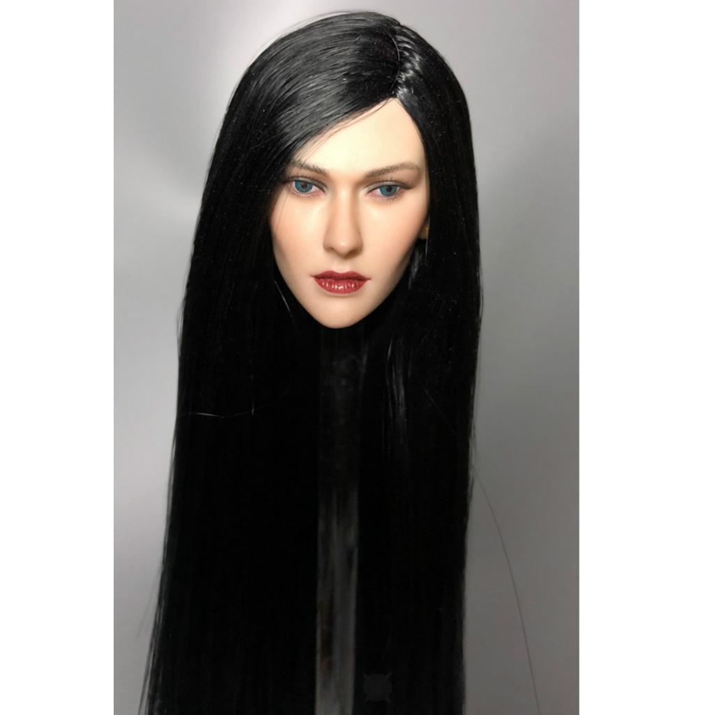 1-6-Lady-Head-Sculpt-Female-Model-for-12-034-HT-Action-Figure-Hot-Toys thumbnail 5