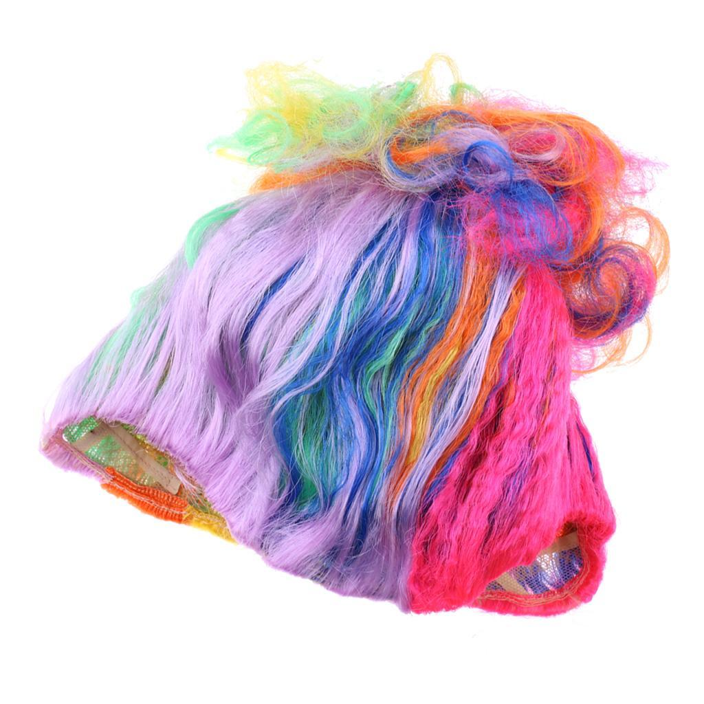 Cute-Flame-Troll-Short-Wig-Cosplay-Party-Costume-Fancy-Dress-Magic-Pixie-Elf-Wig thumbnail 41