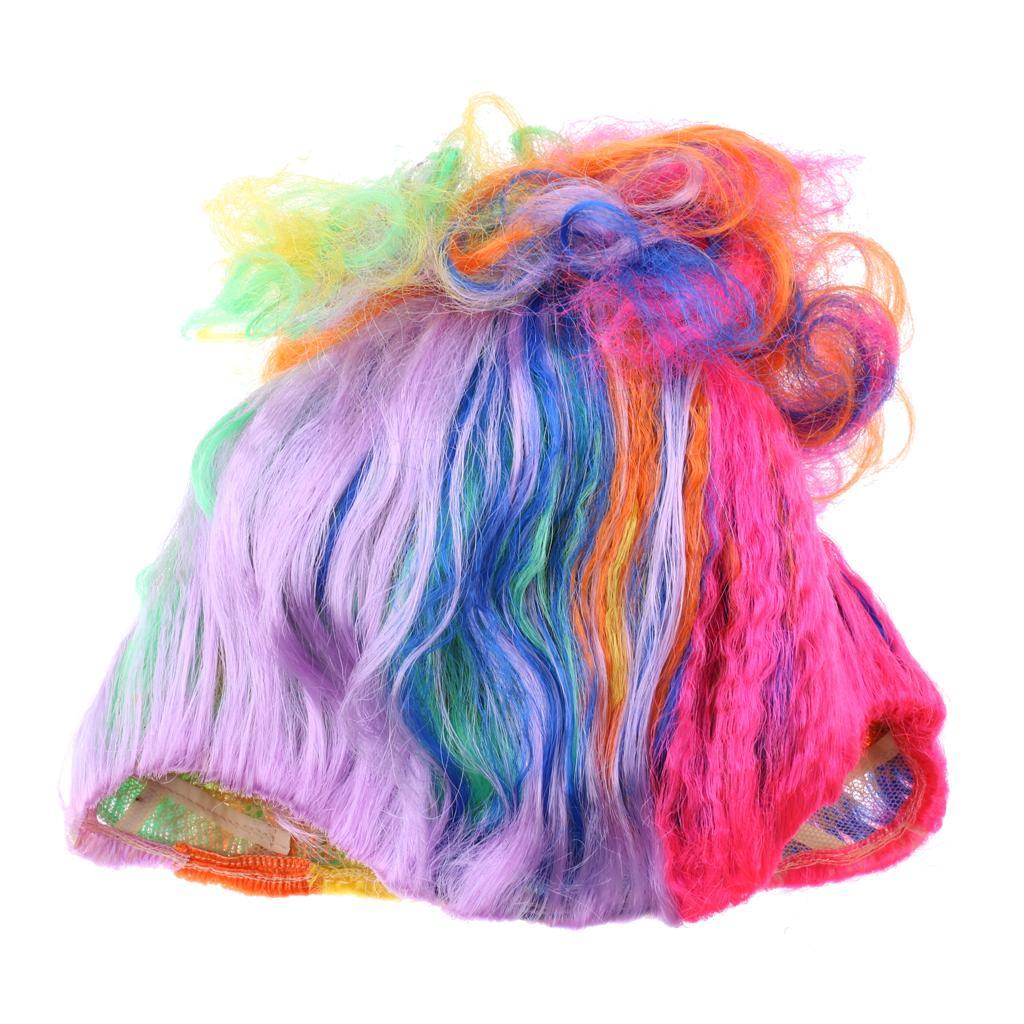 Cute-Flame-Troll-Short-Wig-Cosplay-Party-Costume-Fancy-Dress-Magic-Pixie-Elf-Wig thumbnail 40