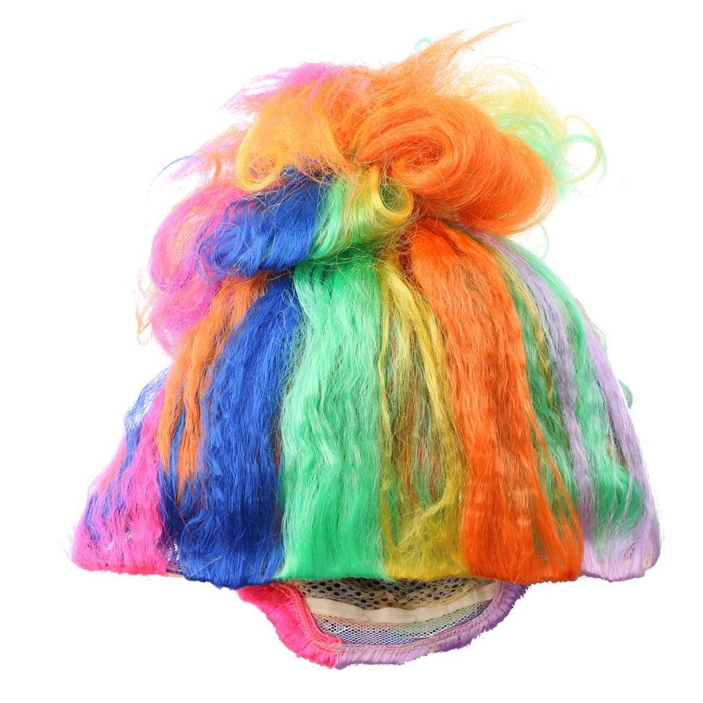 Cute-Flame-Troll-Short-Wig-Cosplay-Party-Costume-Fancy-Dress-Magic-Pixie-Elf-Wig thumbnail 37