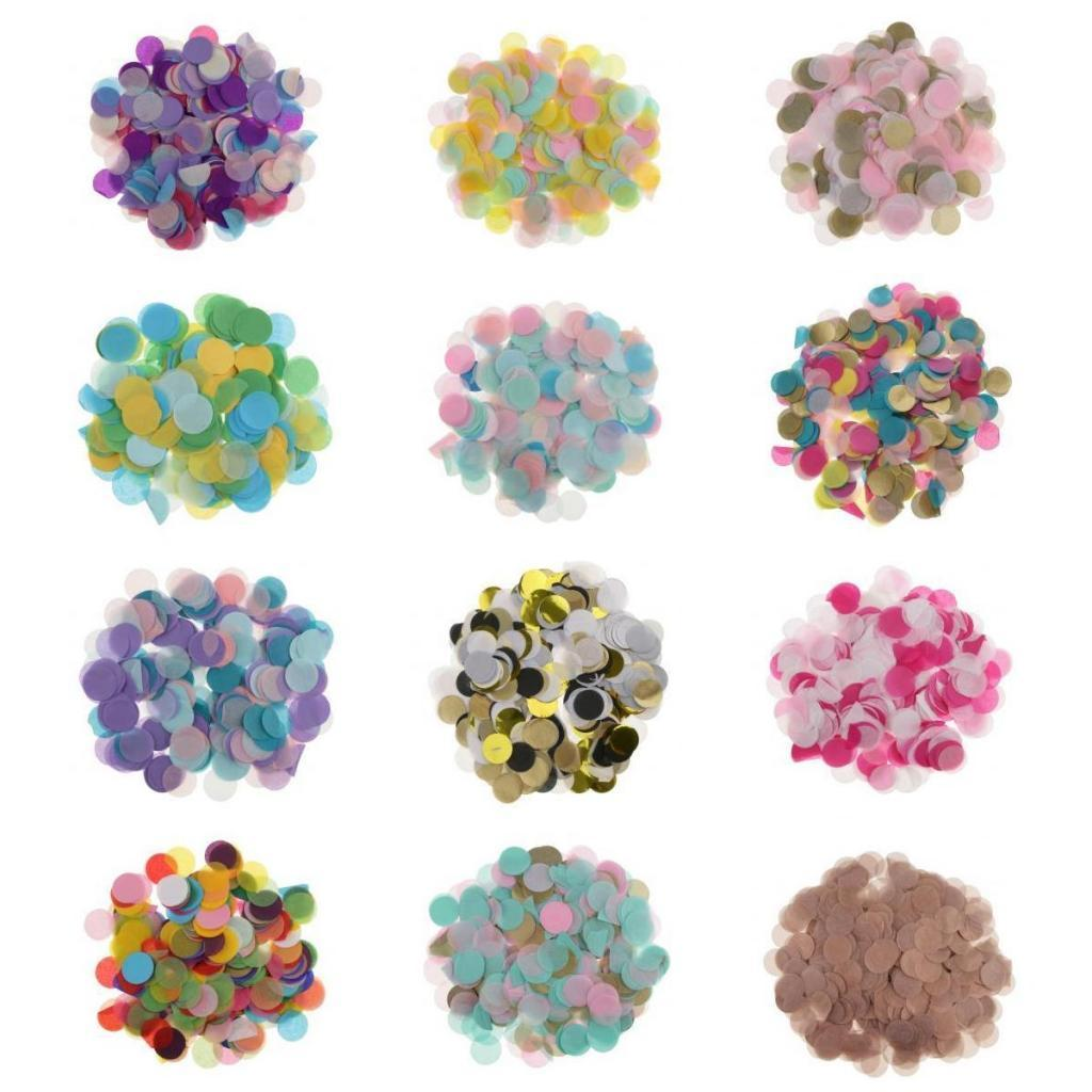 Bag-of-30g-Round-Tissue-Paper-Throwing-Confetti-Party-Wedding-Table-Decoration miniature 4