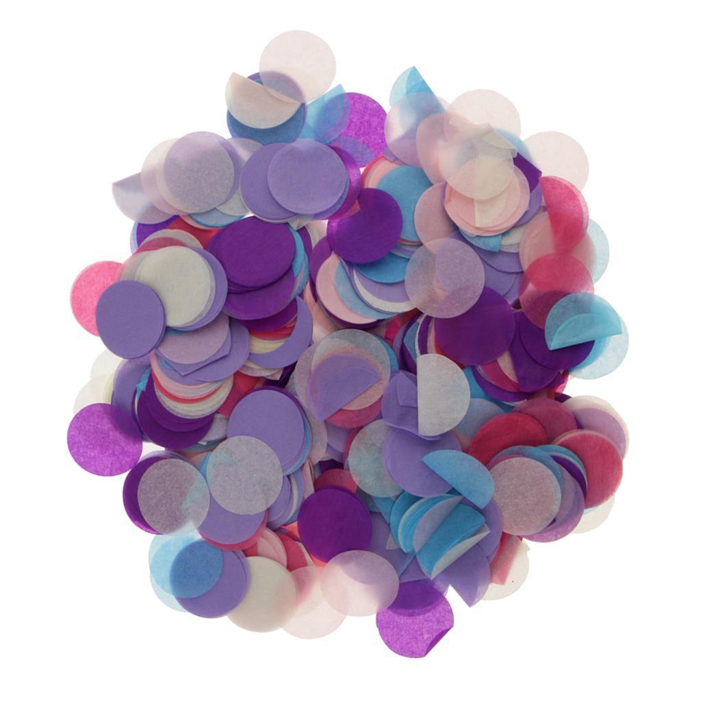 30g-Round-Tissue-Paper-Throwing-Confetti-Party-Balloon-Confetti-Wedding-Decor miniature 3