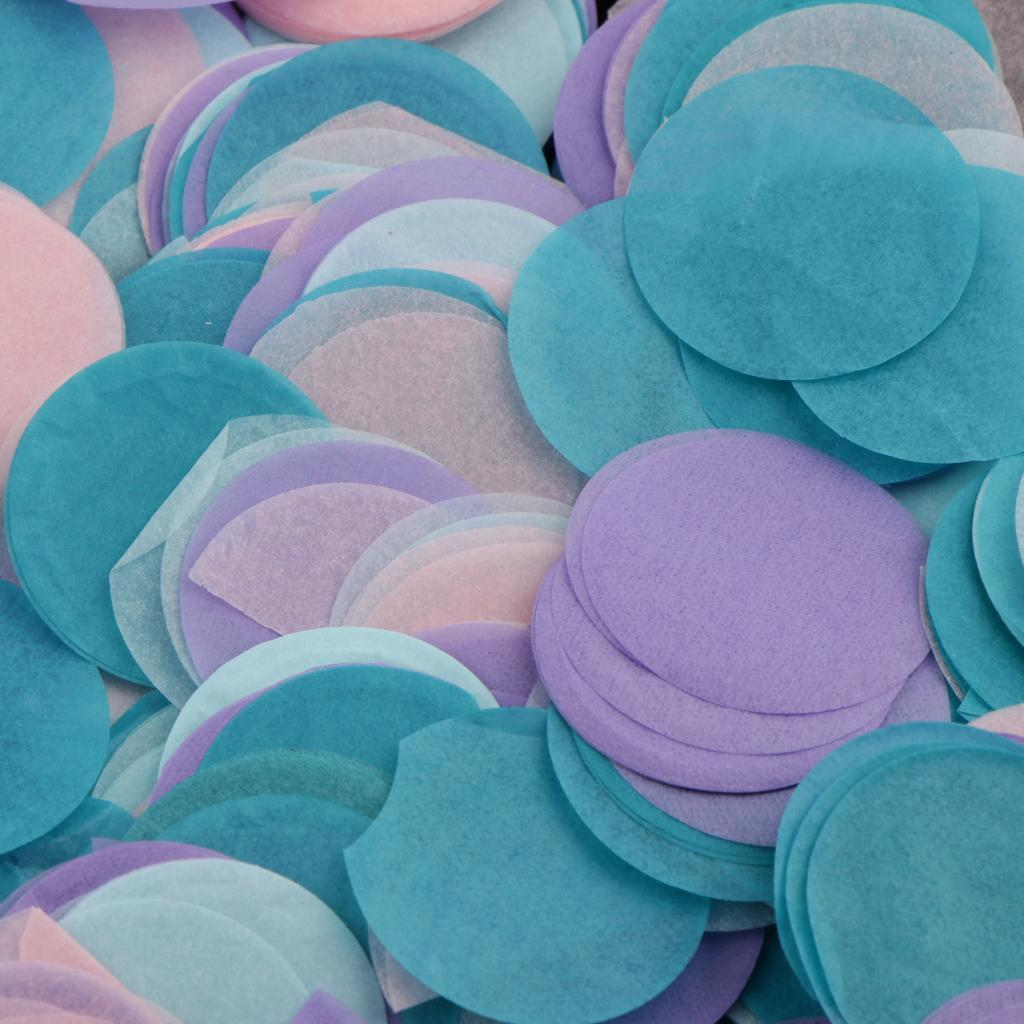 30g-Round-Tissue-Paper-Throwing-Confetti-Party-Balloon-Confetti-Wedding-Decor miniature 16