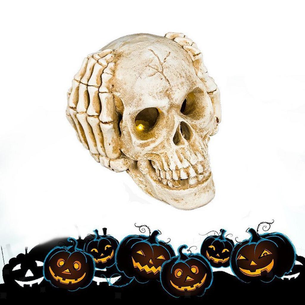 Halloween Decor Skull Horror Scary Human Skeleton Head