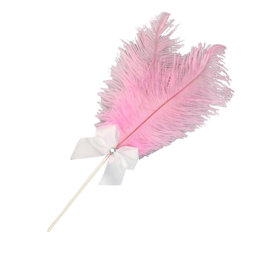 Cake-Topper-Feather-Decor-Cake-Insert-Card-For-Wedding-Party thumbnail 10