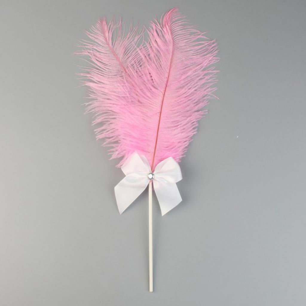 Cake-Topper-Feather-Decor-Cake-Insert-Card-For-Wedding-Party thumbnail 12