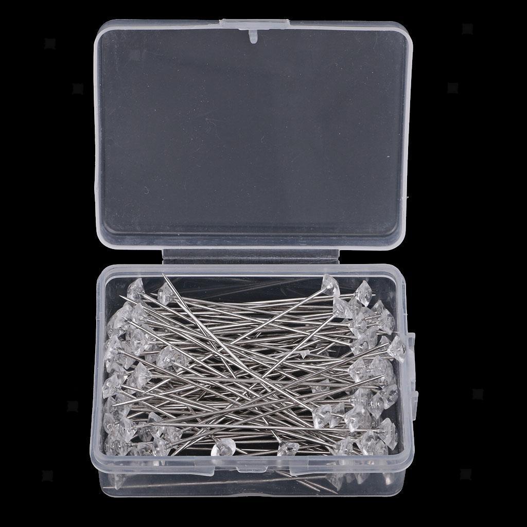 Corsagen Pin Hochzeitsstrauß Nadeln Corsage Pins transparent Kristall