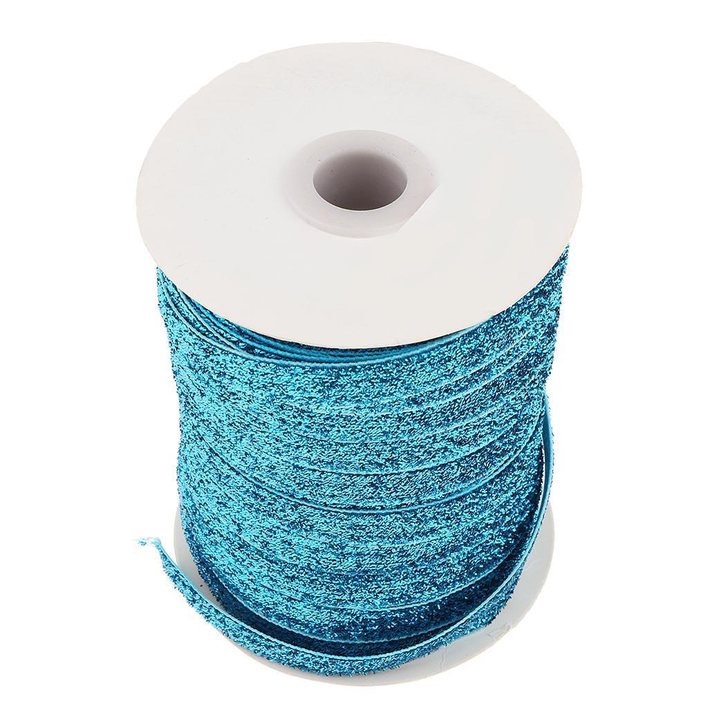 49Yds-3-8-034-Glitter-Velvet-Grosgrain-Ribbon-for-DIY-Crafts-Headband-Clips-Bow thumbnail 6