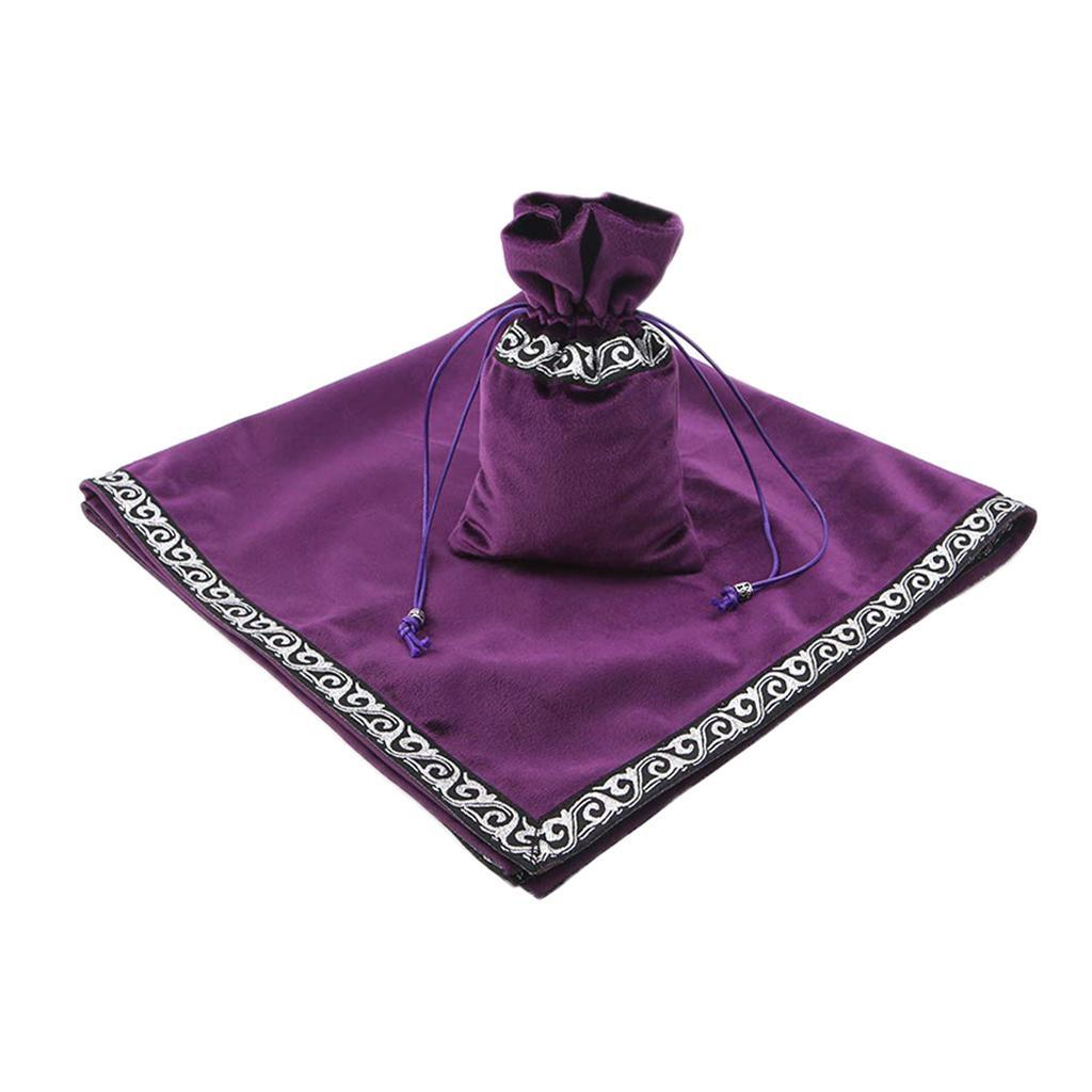 Altar-Tarot-Table-Cloth-W-Divination-Cards-Bag-Wicca-Tablecloth-Pouch miniatura 3