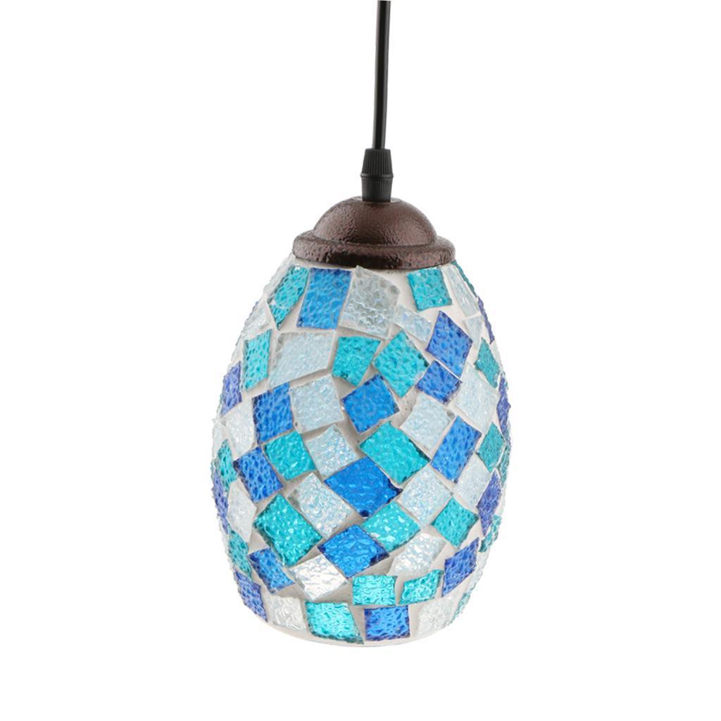 Mosaic-Style-Hanging-Light-Ceiling-Pendant-Lamp-Retro-Lampshade-Cafe-Restaurant thumbnail 72