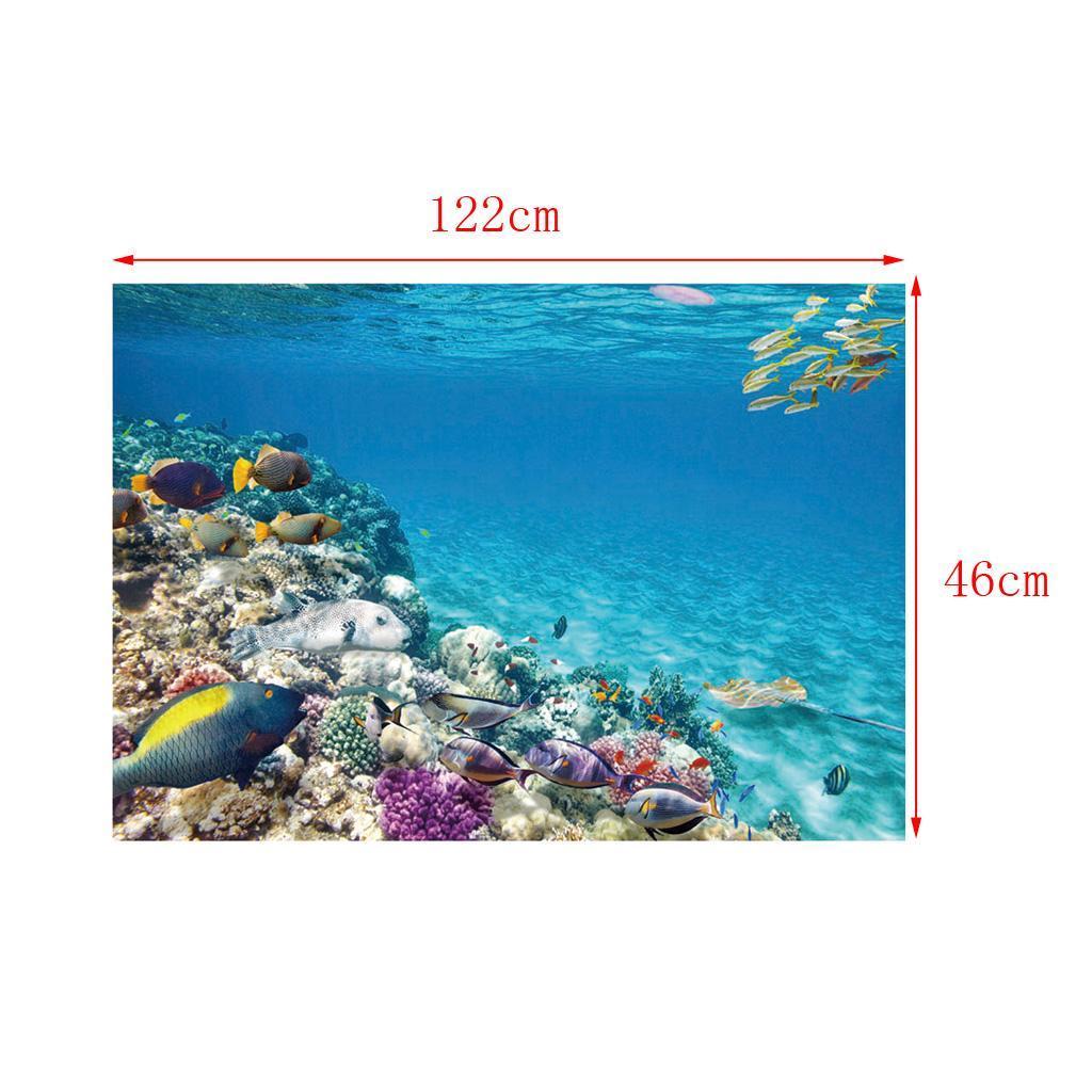 Sfondo-Stampa-Adesivi-Monocromatici-Per-Acquario-Serbatoio-da-Pesca-in-PVC miniatura 17