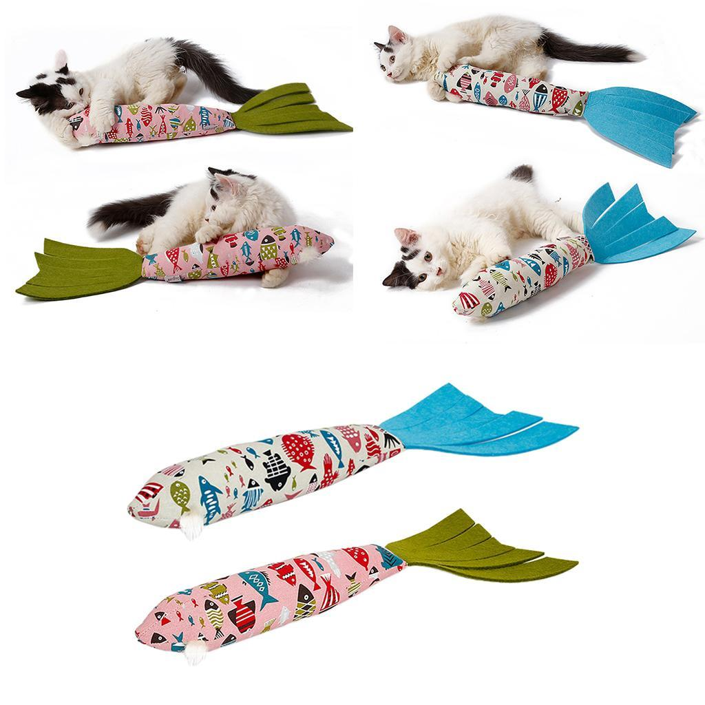 Catnip-Fish-Cat-Toys-Fish-Kitty-Interactive-Chewings-Toy-Pet-Kitten-Play-Toy thumbnail 4