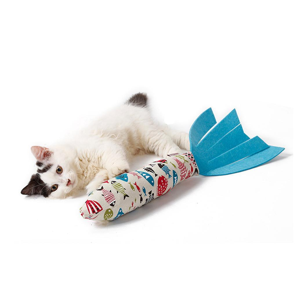 Catnip-Fish-Cat-Toys-Fish-Kitty-Interactive-Chewings-Toy-Pet-Kitten-Play-Toy thumbnail 3