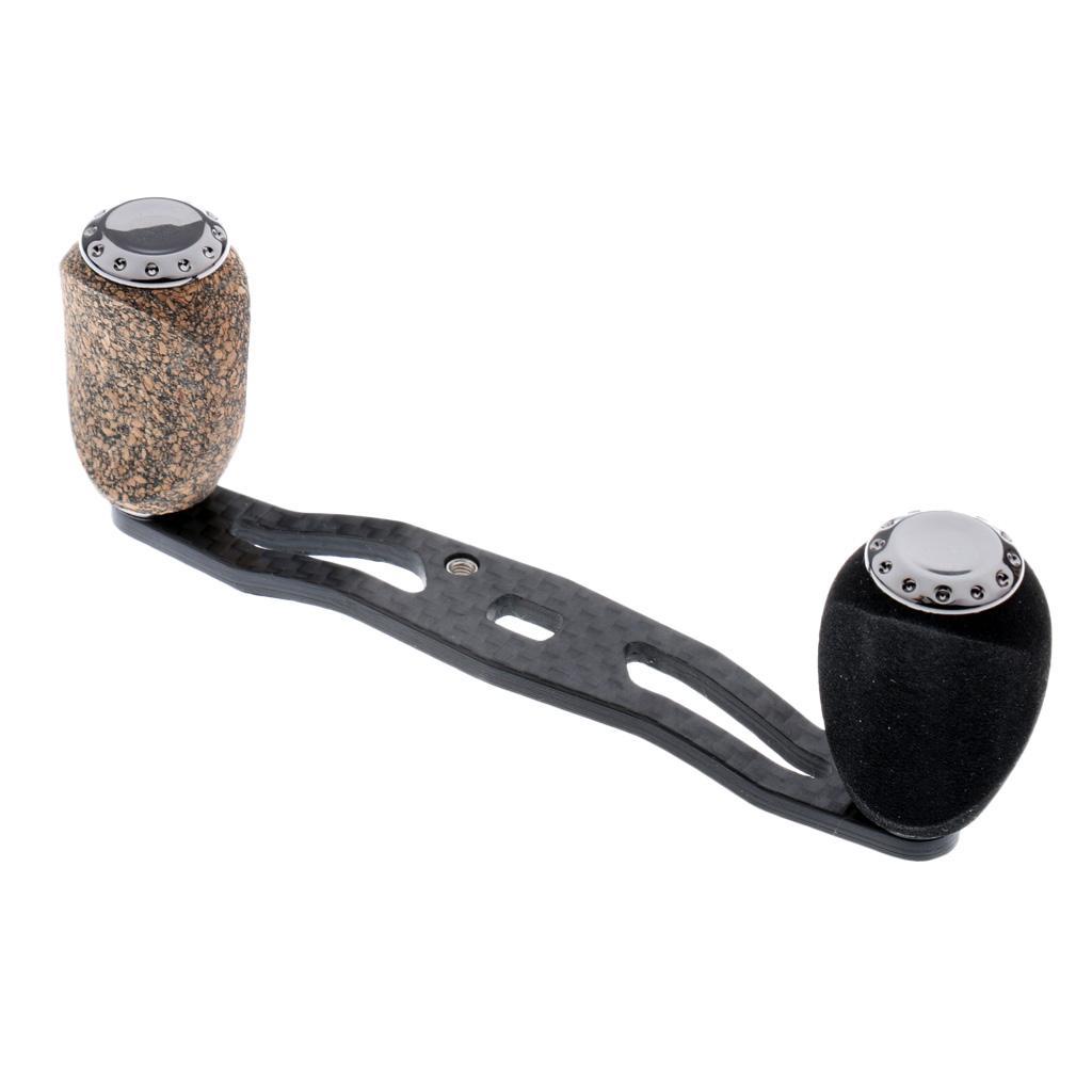 Fishing Reel Handle Baitcasting Handle Handle Knob Rocker Arm 5x8//4x7mm Grey