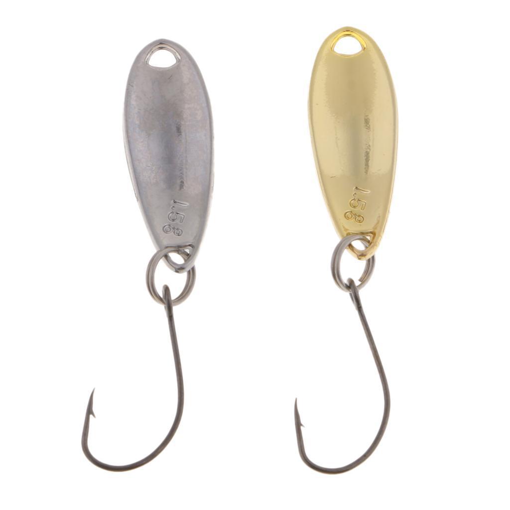 2-Pcs-Cucchiai-In-Metallo-Esche-Da-Pesca-Con-PaillettesRichiami-Rigidi-Con miniatura 5