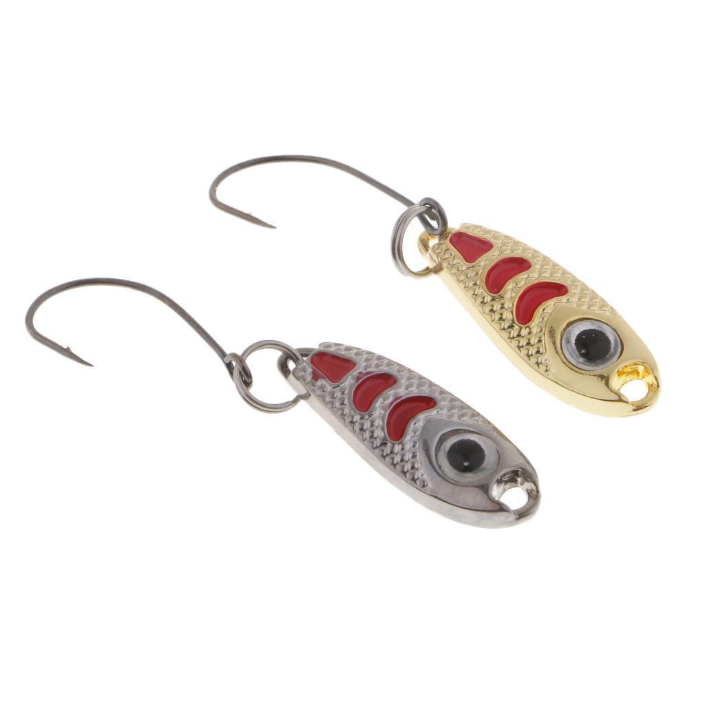 2-Pcs-Cucchiai-In-Metallo-Esche-Da-Pesca-Con-PaillettesRichiami-Rigidi-Con miniatura 3