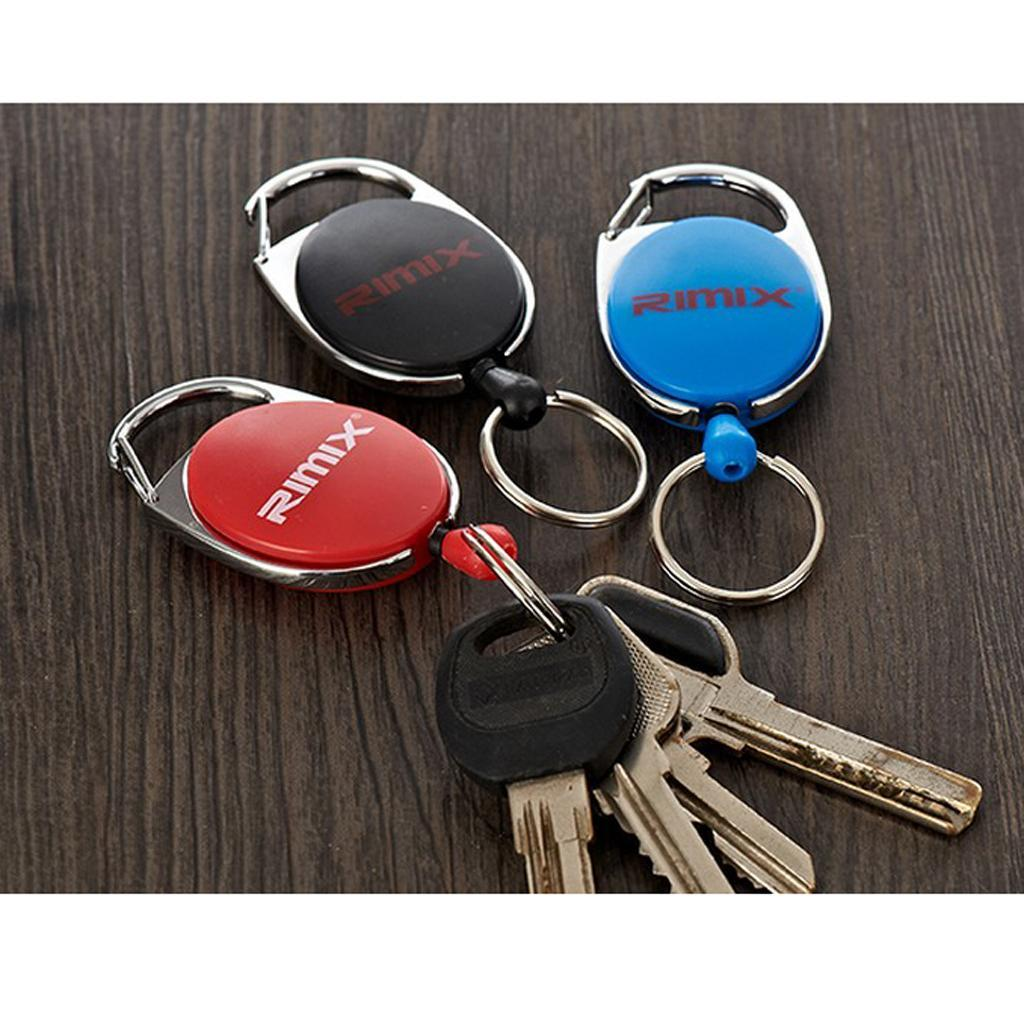 Retractable-Keychain-Carabiner-Recoil-Reel-Key-Holder-Camping-Travel-Hiking thumbnail 9