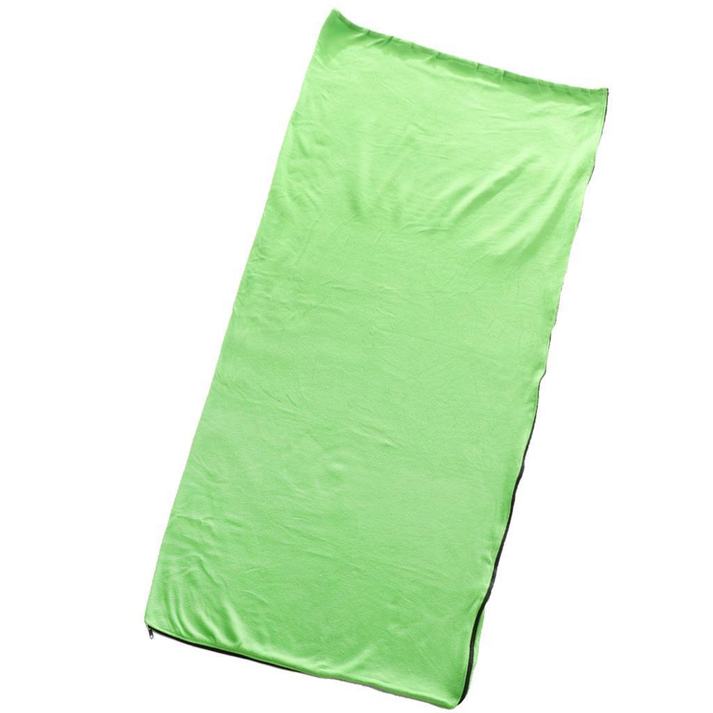 Orange Single Microfibre Sleeping Bag Liner Camping Travel Hiking Hostel Sheet