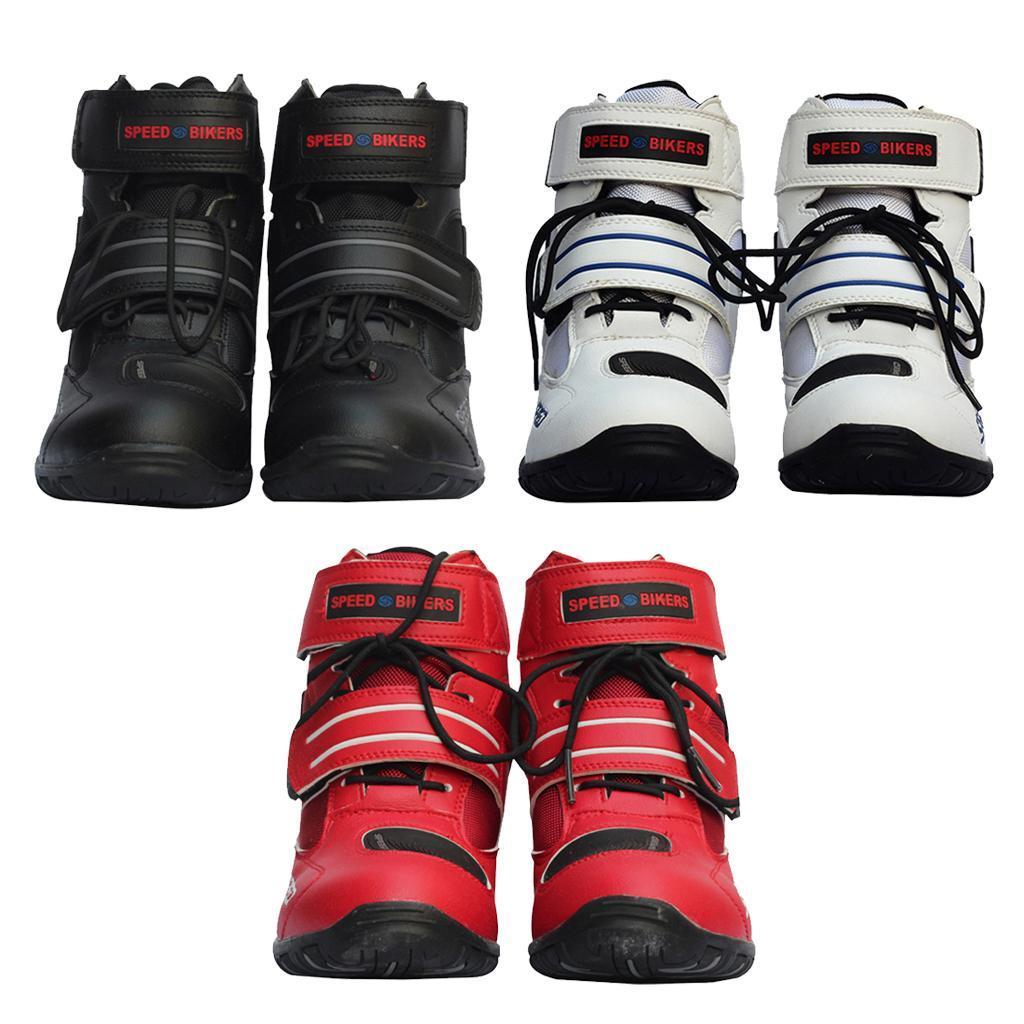 paio-di-scarpe-sportive-da-corsa-per-moto-da-corsa-impermeabili miniature 3