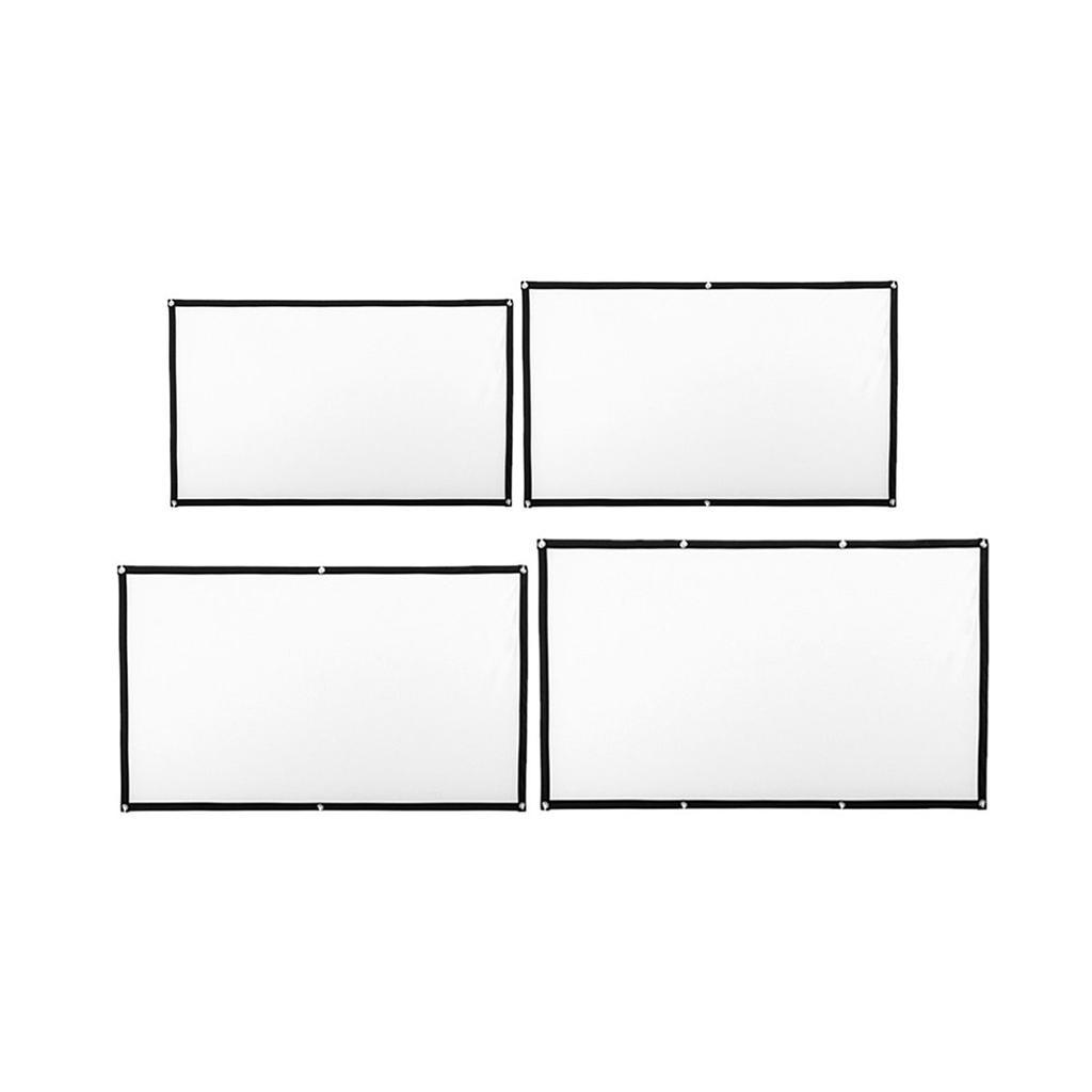 Durable-Outdoor-Portable-Projector-Screen-Soft-Home-Movie-Screen-White thumbnail 6