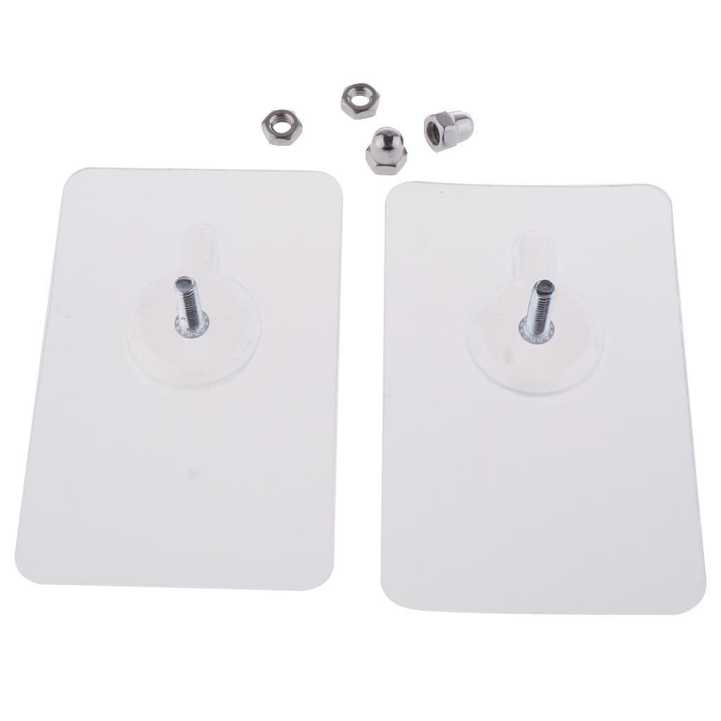 2x-Gancio-Adesivo-in-Acciaio-Inossidabile-Ultra-Forte-Adesivo-Resistente miniatura 18