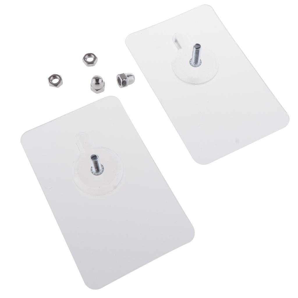 2x-Gancio-Adesivo-in-Acciaio-Inossidabile-Ultra-Forte-Adesivo-Resistente miniatura 19