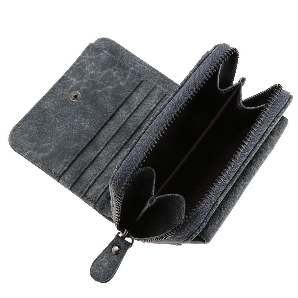 Portafoglio-da-donna-in-pelle-con-fermasoldi-Porta-carte-di-credito-da-donna miniatura 9